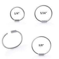 """925 Sterling Silver Nose Ring Hoop 1/4"""" 5/16"""" 3/8"""" 22 Gauge 22G"""