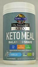 Keto Meal Vanilla Garden of Life 23.70 oz 672 g Balanced Shake Keto Certified