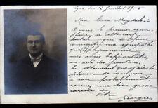 LYON (69) Georges , ESPERANTISTE du MOUVEMENT ESPERANTO / Carte-Photo en 1905