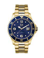 Ice-Watch ICE steel Gold blue Medium Uhr Damenuhr Datum Gold 016761