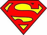 Diecut Vinyl SuperMan LOGO Decal Sticker Comic Colored BatMan Marvel