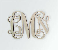 Wooden Monogram - Unfinished, Cursive Wooden Letter - Perfect for Crafts, DIY,