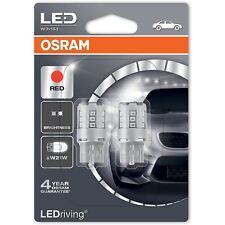 OSRAM LED W21W 582 T20 SC 12V 7705R-02B Ampoules Indicateur Rouge W3x16d Twin