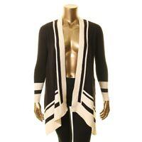 ANNE KLEIN NEW Women's Striped Open Front Cardigan Sweater Top TEDO