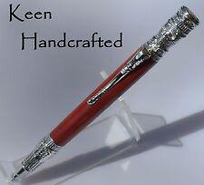 co - Keen Handcrafted Handmade Federal Chrome Twist Pen