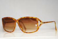 DIOR 1990 Vintage Womens Designer Sunglasses Brown Rectangle 2756 12 15109