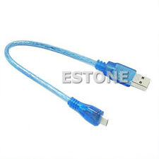 Short 23cm USB  Data Cable 2.0 A Male to B Male Micro 5 Pin High Speed
