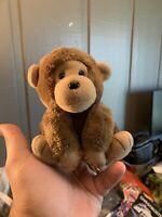 "Dakin Monkey Ape Plush Brown 5"" 1986 Stuffed Animal toy"