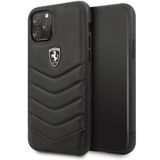 Genuine Ferrari  Heritage Quilted Leather Case Cover For iPhone 11 Pro in Black