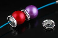Bulk 100ps Thai Wind Enamel Loose Beads Spacer Craft Necklace Findings 9*9mm