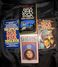 4 STAR TREK BOOKS: WORLD OF STAR TREK, STAR TREK TRIVIA, STAR TREK COMICS, SHATN