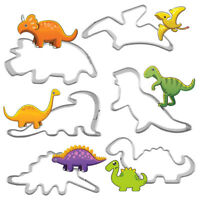6Xstainless steel dinosaur shape pastry cookie biscuit cutter cake decor mold ME