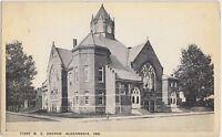 Indiana In Postcard c1910 ALEXANDRIA First M.E. CHURCH Building
