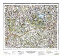 MAP ANTIQUE 1932 POLISH MILITARY Lomza AREA POLAND REPLICA POSTER PRINT PAM0482