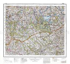 Mapa Antiguo 1932 polaco Militar Lomza Zona Polonia réplica cartel impresión pam0482