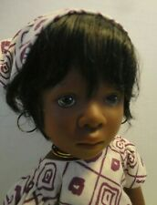 "Vintage 18"" Sylvia Natterer Black Finouche doll - Gotz - African inspired outfit"