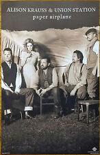 ALISON KRAUSS & UNION STATION Paper Airplane Ltd Ed RARE Poster+FREE Folk Poster
