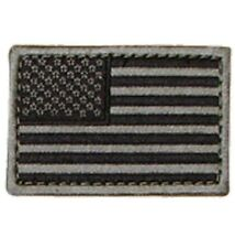 """Condor - American Flag Patch 2"""" x 3""""inch Black & Gray - Hook & Loop Backing"""