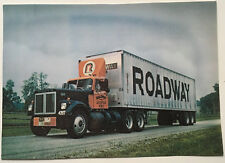 """Roadway Express Big """"R"""" truck driver photo late 60's early 70's 7-1/2X10-1/2"""