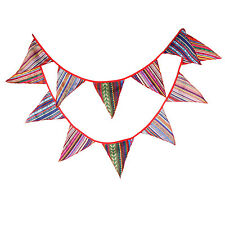 3.3M 12flags Gypsy Outdoors Fabric Wedding Tent Bunting Party Show Decor Garland
