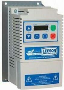 174604.00, Leeson, 1/2 HP, 115/230V, 1PH in, 3PH output, NEMA 1, SM2, DRIVE FRÉQ