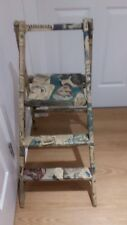 VINTAGE/RETRO STEP LADDERS DECOUPAGE IN FRENCH MAGAZINE ILLUSTRATIONS, 1940S/50