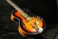 Hollow Body Jazz Electric Guitar L5 Guitar Bigsby Bridge Gold Hardware 22 Frets