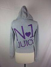 Juicy Couture Gray Purple Full Zip Jacket Hoodie No 1 L Large