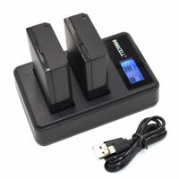 2x LP-E10 Battery + Dual Charger for Canon Rebel T3 T5 T6 Kiss X50 X70 EOS 1100D