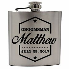 Personalized Silver Flask - Groomsman gift, Best man gift