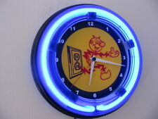Reddy Kilowatt Electric Company Electrician Man Cave Blue Neon Wall Clock Sign