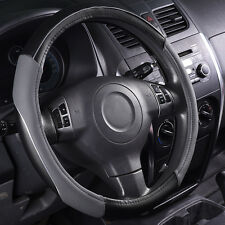Steering wheel covers Universal Leather Grey Black Fashion Sports 38 cm 37cm Fit