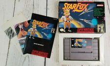 Starfox Super Nintendo SNES 1993 in Box Includes Zelda Poster See Pictures
