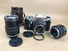 Topcon RIII Automatic w/3 Lenses 58mm f/1.8 -3.5cm/2.8 -13.5cm/3.5 F.Auto Topcor