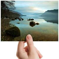 "Peaceful Scenic Lake Landscape Small Photograph 6""x4"" Art Print Photo Gift #8571"