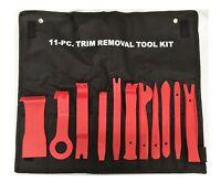 11pc TRIM REMOVAL Tool Kit Door Panel Interior Wedge Pry Clip HD Nylon Plastic