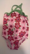 CIRCO Target Baby Girl Size 18M Pink Red Green Floral Swimsuit GUC
