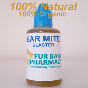 Ear Drops For Cats & Dogs Ear Mites Blaster 100% NATURAL Dirty Ear Cleaner 60ML
