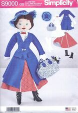 Mary Poppins Fabric Doll w/Clothes Bag Shoes Pattern Sewing Pattern Uncut 17 In