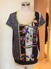 Olivier Philips Top Size 18 Black off White Lime Trim Now