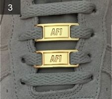 ❤️ Neue Nike Air Force 1 Schnallen Accessoires Gold Lace Locks 2 Stück✅