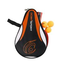 Portable Table Tennis Racket Bag Cover Paddle Ping-Pong Paddle Ball Case Outdoor