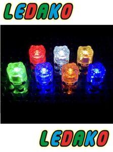 LED Leuchtstein 2x2 rund transparent orange dauernd  leuchtend light by ledako