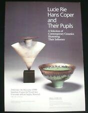 Lucie Rie, Hans Coper & their pupils    1990 ART EXHIBITION POSTER