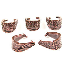 Copper Large Jardin Pendant Pinch Bails, TierraCast Pewter (5 Pieces)