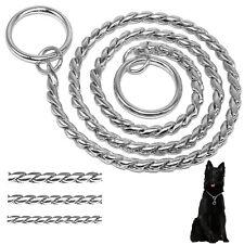 Dog Choke Chain Choker Collar Strong Chrome Steel Metal for Training Dogs 7 Size
