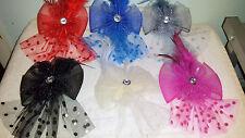 JOBLOT 24 piezas Fascinator de la pluma & endurecidas cabello en secciones nuevo LOTE MAYORISTA U