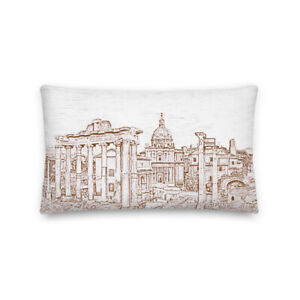 European ancient city. Premium Pillow