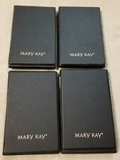 Lot of 4 MARY KAY Black Vinyl Folding Empty Cosmetic MIRROR COMPACTS Consultant