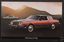 1979 BUICK RIVIERA S TYPE 2-Door Coupe Sports Car Dealer Photo POSTCARD
